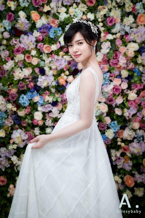 Ariesybaby造型團隊,ARIESY愛瑞思品牌訂製手工婚紗,自助婚紗造型,白紗造型,黑髮新娘造型