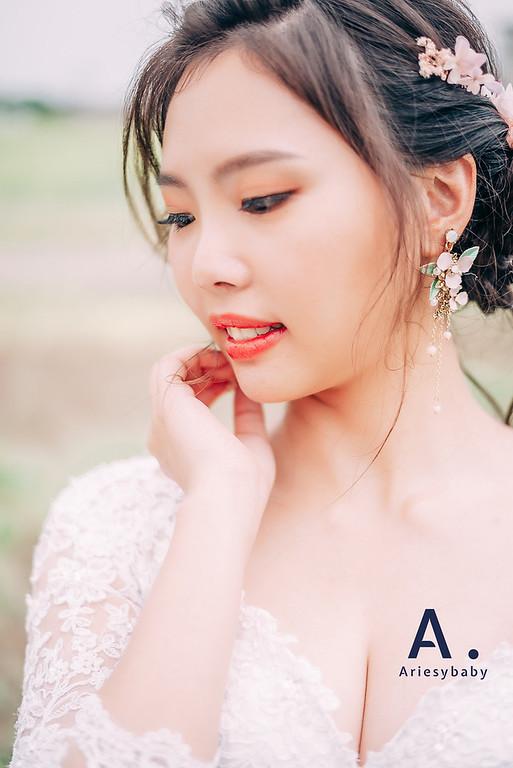 ARIESY愛瑞思品牌訂製手工婚紗,Ariesybaby團隊,婚攝大嘴團隊,新娘造型,蓬鬆編髮