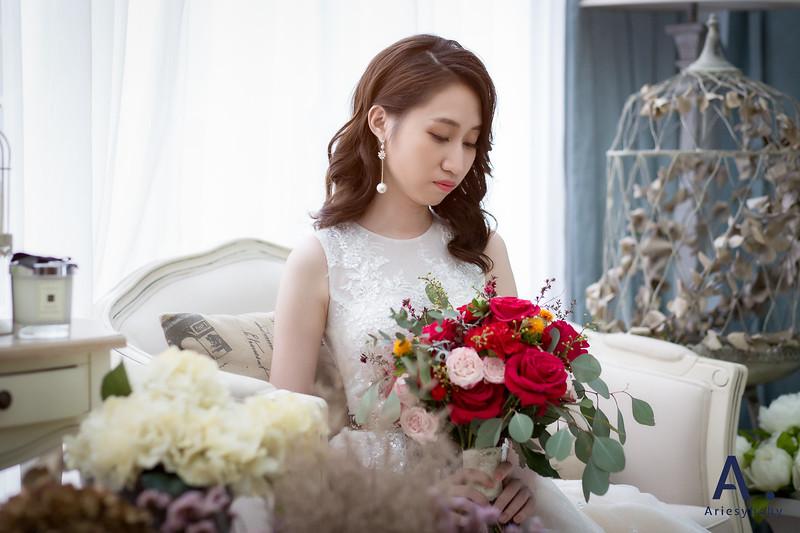 新娘造型,新娘捧花,白紗造型,Bride,時尚俐落造型
