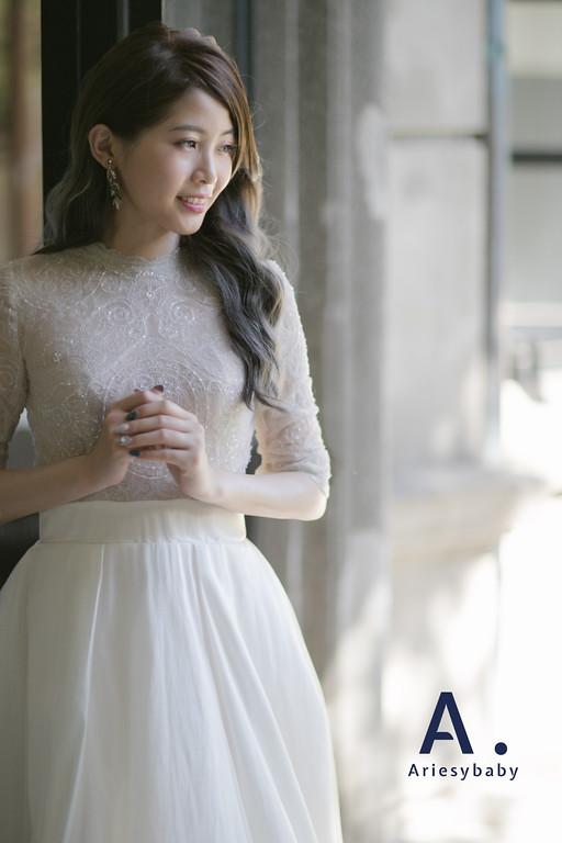 Ariesybaby造型團隊,ARIESY愛瑞思品牌訂製手工婚紗,類白紗造型,新娘髮型,婚攝溫開水