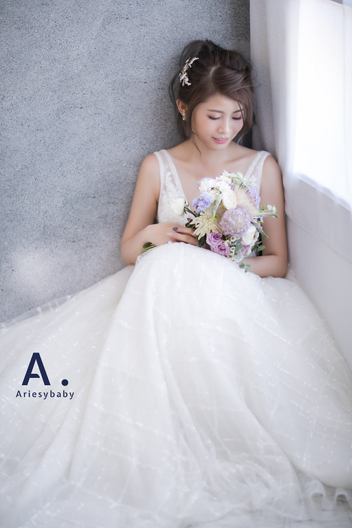 Ariesybaby造型團隊,ARIESY愛瑞思品牌訂製手工婚紗,類白紗造型,新娘髮型,婚攝大嘴,婚攝溫開水