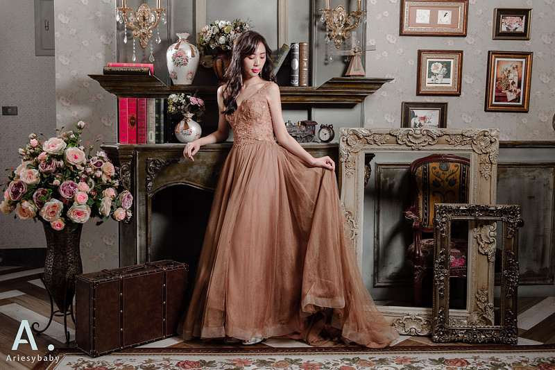 ARIESY愛瑞思品牌訂製手工婚紗,Ariesybaby造型團隊,新娘造型,黑髮新娘髮型,手作捧花