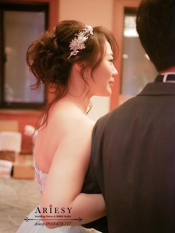 細軟髮新娘,髮量少新娘,蓬鬆髮型,歐美新秘