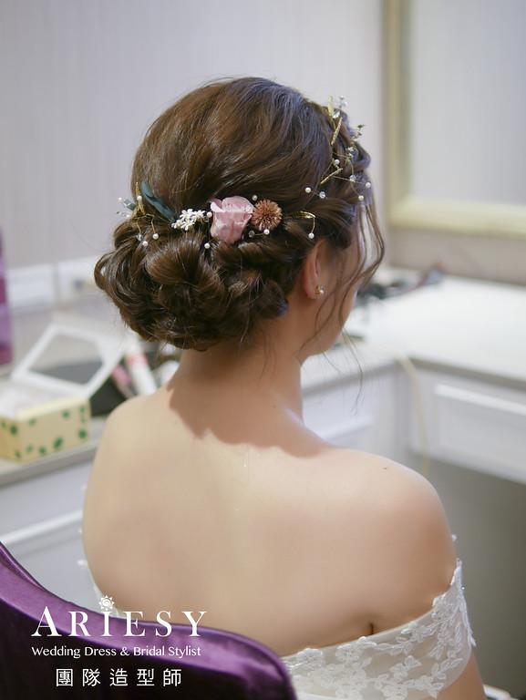 編髮新娘髮型,愛瑞思,giny,台北新秘,新娘秘書,新秘推薦