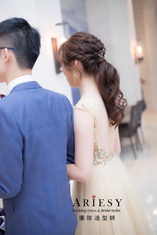 編髮新娘髮型,愛瑞思,hanya,台北新秘,新娘秘書,新秘推薦