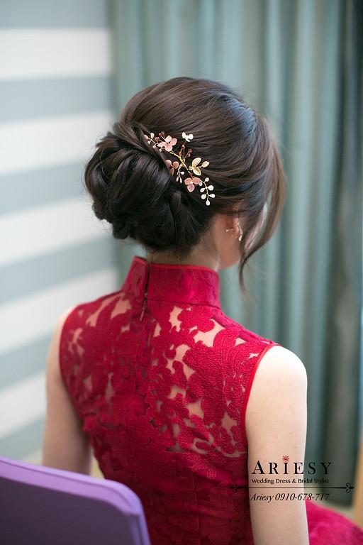 編髮新娘髮型,愛瑞思,ariesy,台北新秘,新娘秘書,新秘推薦