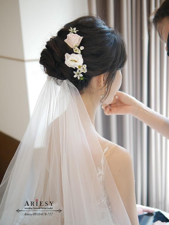 白紗迎娶證婚新娘造型,愛瑞思,ARIESY,台北新秘,新娘秘書,新秘推薦