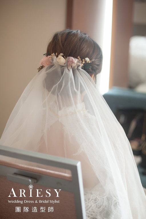 白紗迎娶證婚新娘造型,愛瑞思,GINY,台北新秘,新娘秘書,新秘推薦