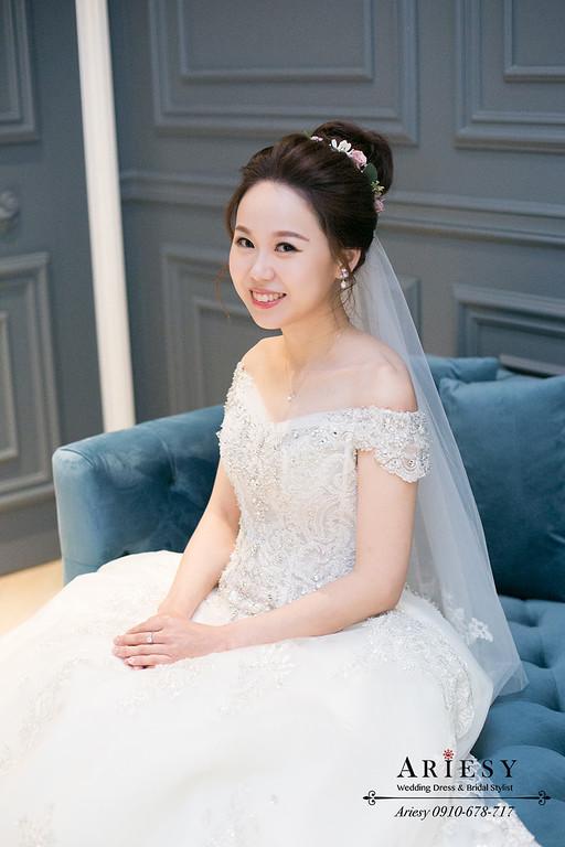 韓風新娘髮型,愛瑞思,ariesy,台北新秘,新娘秘書,新秘推薦