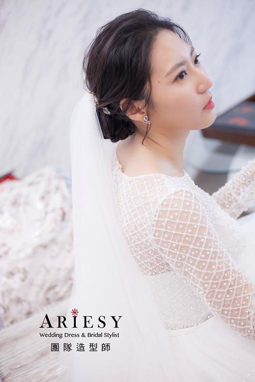 黑髮新娘造型,愛瑞思,hanya,台北新秘,新娘秘書,新秘推薦