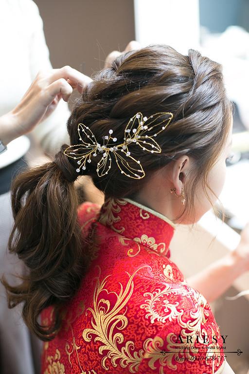 旗袍龍鳳掛新娘髮型,愛瑞思,ARIESY,台北新秘,新娘秘書,新秘推薦