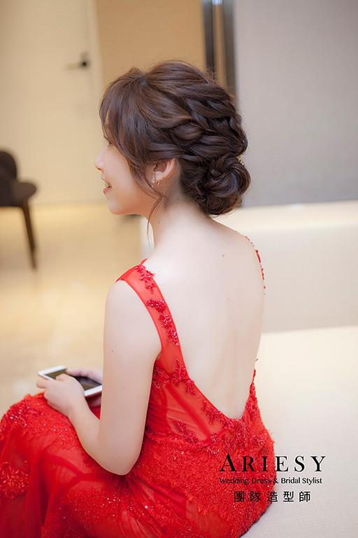 蓬鬆線條新娘造型,愛瑞思,hanya,台北新秘,新娘秘書,新秘推薦