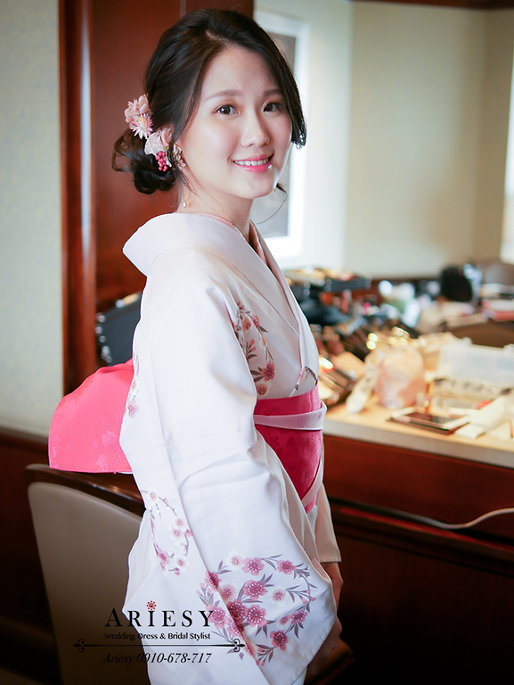 和服新娘造型,新秘,ariesy,台北新娘秘書,鮮花造型,和服造型