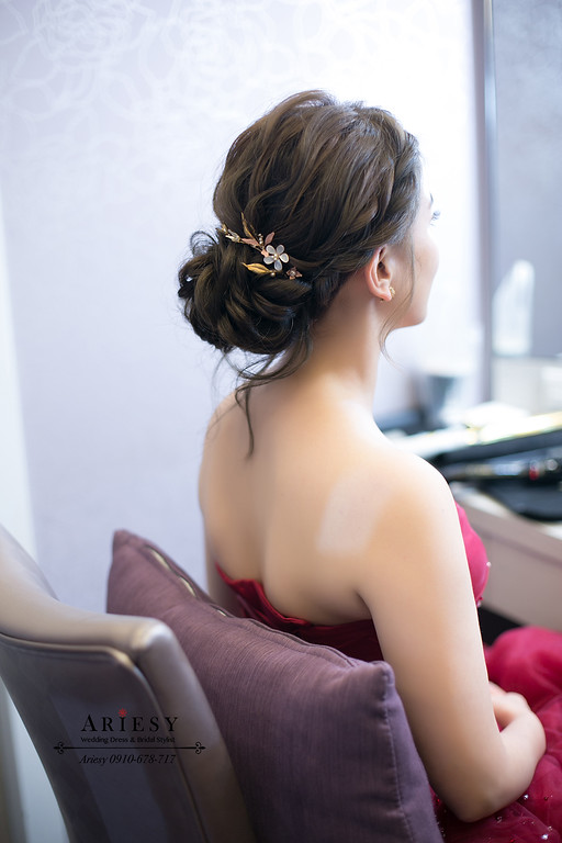 文定新秘,韓風妝感新秘,韓系編髮,新娘秘書,新娘造型,台北新秘