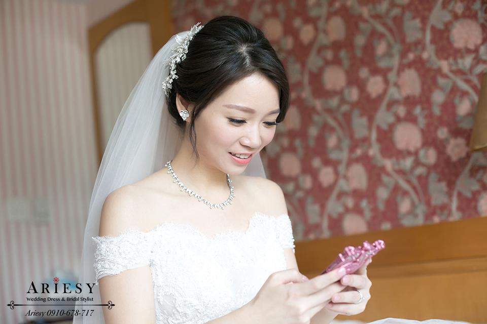 新娘髮型,自然輕透妝感,韓系新娘秘書,韓風新娘造型,鮮花編髮