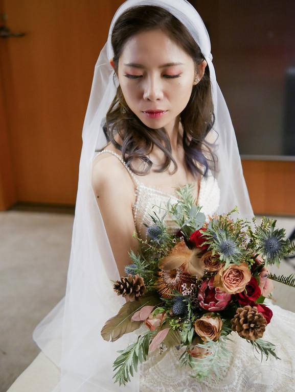 波希米亞風新娘造型,頭巾新娘造型,愛瑞思新娘秘書,ariesy,輕婚紗新娘造型,新娘捧花