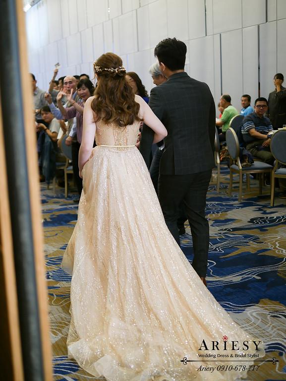 美式新秘,新娘髮型,森林系邊髮新娘造型,新娘秘書,台北新秘,ARIESY,愛瑞思