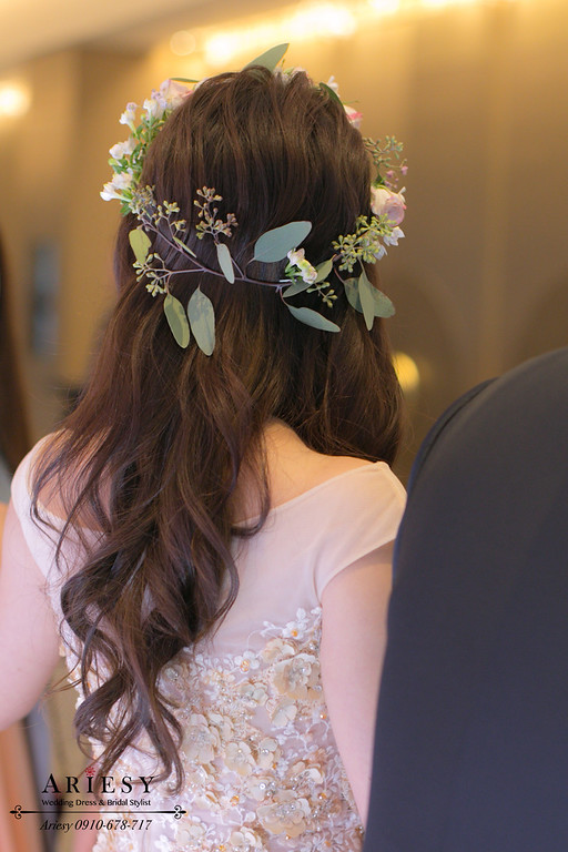 鮮花花圈,新娘花冠,新娘花冠,新娘花圈造型,愛瑞思,Ariesy