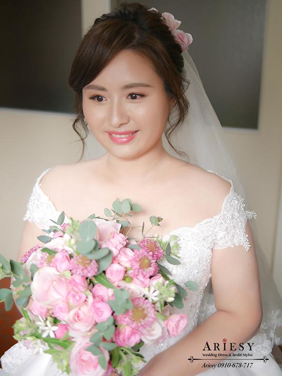 白紗髮型,迎娶造型,頭紗造型,新娘秘書,新娘彩妝