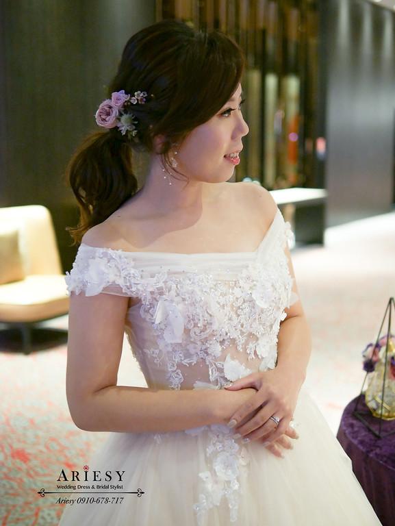 ARIESY,台北新秘推薦,新娘髮型,新娘造型,愛瑞思,鮮花新秘