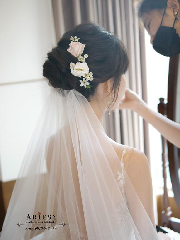 白紗新娘造型,新娘秘書,愛瑞思,ARIESY,鮮花新秘,編髮新秘,新娘捧花