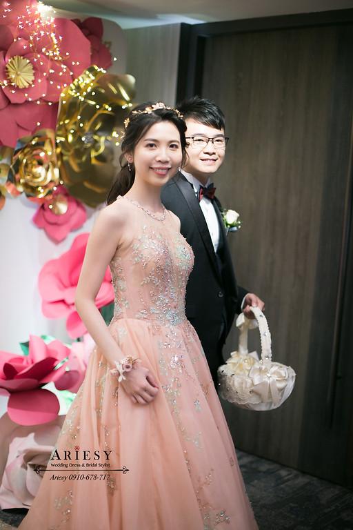 台北新秘推薦,新娘秘書,愛瑞思,ARIESY,晶華酒店婚宴,編髮新娘造型