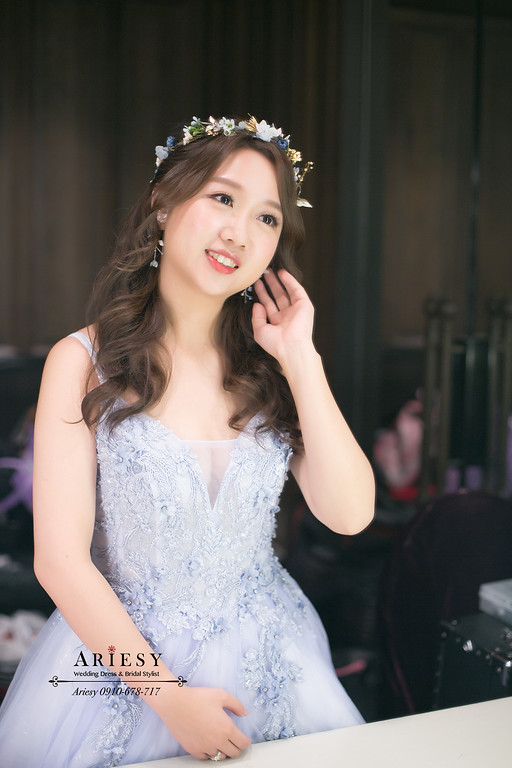 仙氣新娘造型,花藝新娘造型,鮮花新秘,新娘秘書,愛瑞思,ARIESY
