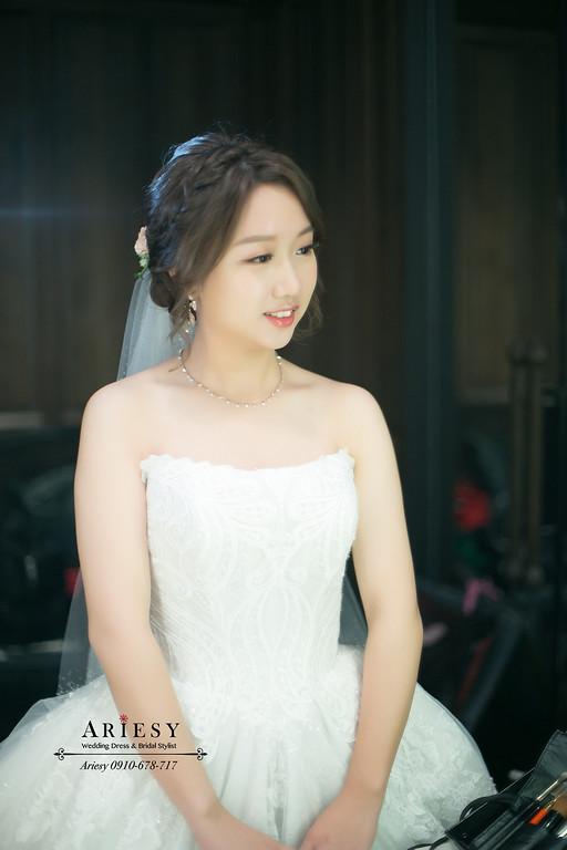 鮮花新秘,鮮花新娘髮型,花藝造型,台北君品新秘,白紗造型,愛瑞思,ARIESY
