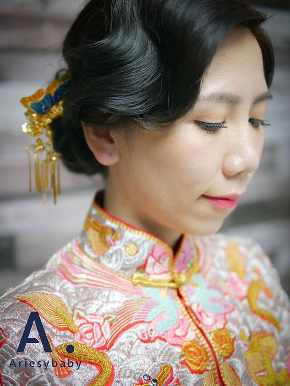 龍鳳掛復古造型,歐美復古髮型,指推瀏海,復古新娘髮型,黑髮新娘造型