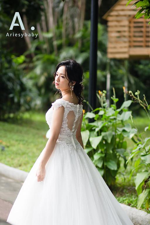 婚紗造型,新娘頭,台北新秘,松菸婚紗,婚紗造型韓風