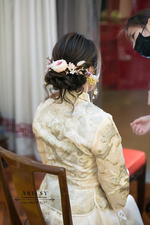 龍鳳褂造型,新娘秘書,新秘,鮮花造型,編髮新娘,圓山飯店新娘婚宴