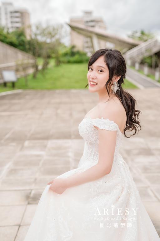 婚紗攝影,婚紗造型,攝影克偉,新祕Hanya,新娘秘書,自助婚紗,新娘造型,白紗造型,膨鬆編髮造型
