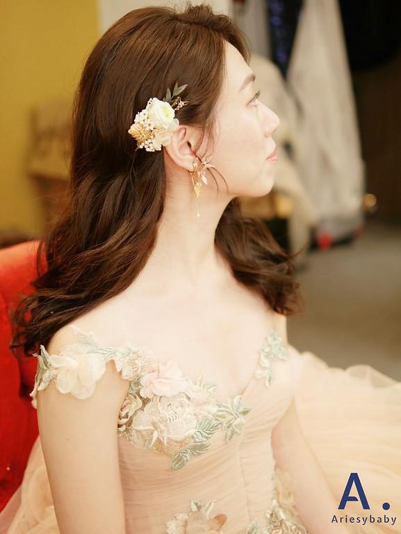 新娘秘書,新娘清透妝感,單眼皮新娘妝感,文定造型,新秘