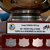 Retired Fitchburg District court Judge Edward Reynolds played on the over 80 USA hockey team that played Canada in the Coupe Canada 150 Cup on Ottawa on October 28, 2017. The US bet Canada by a score of 3 to 2. A close up of the winners cup. SENTINEL & ENTERPRISE/JOHN LOVE