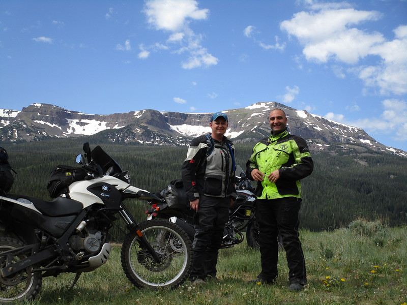Day 3 - Jon and I in front of Flat Top Mountain, on Forest Rt 900, near Yampa CO.