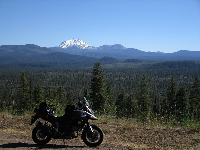 Day 1 - A view of the Devil's Half Acre with Lassen Peak in the background.  Lassen is an active volcano.  This was along CA 44 east of the town of Old Station.
