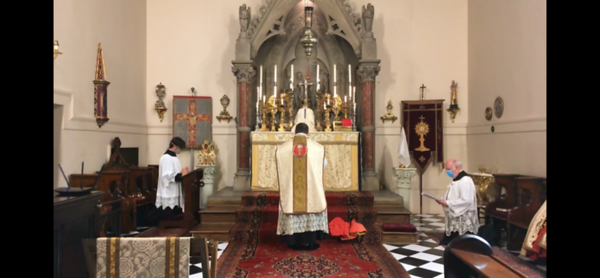 Prayers at the foot of the altar