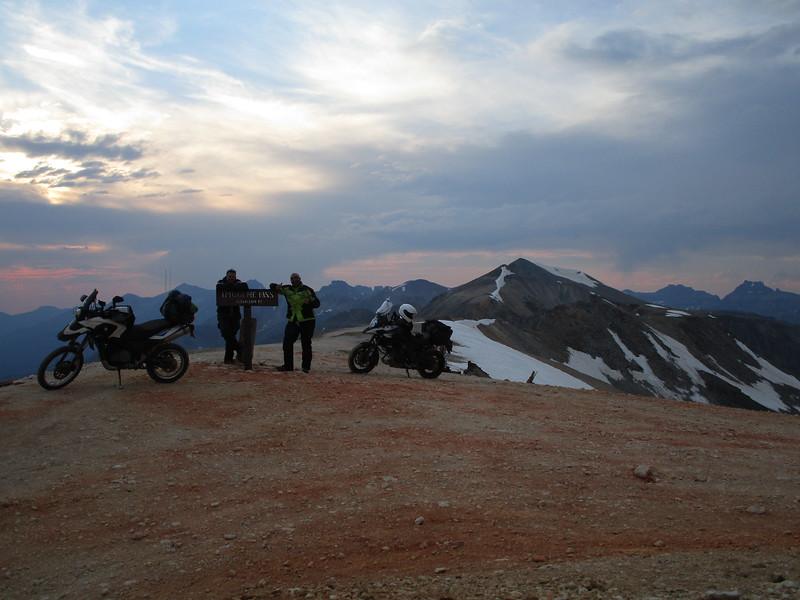 Day 3 - The top of the pass, 13,114 feet!