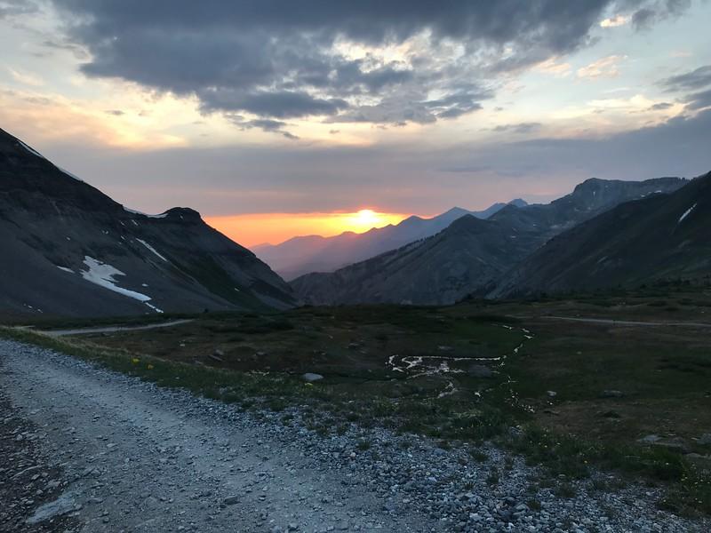 Day 3 - Sunset over Imogene.  Photo by Jon.