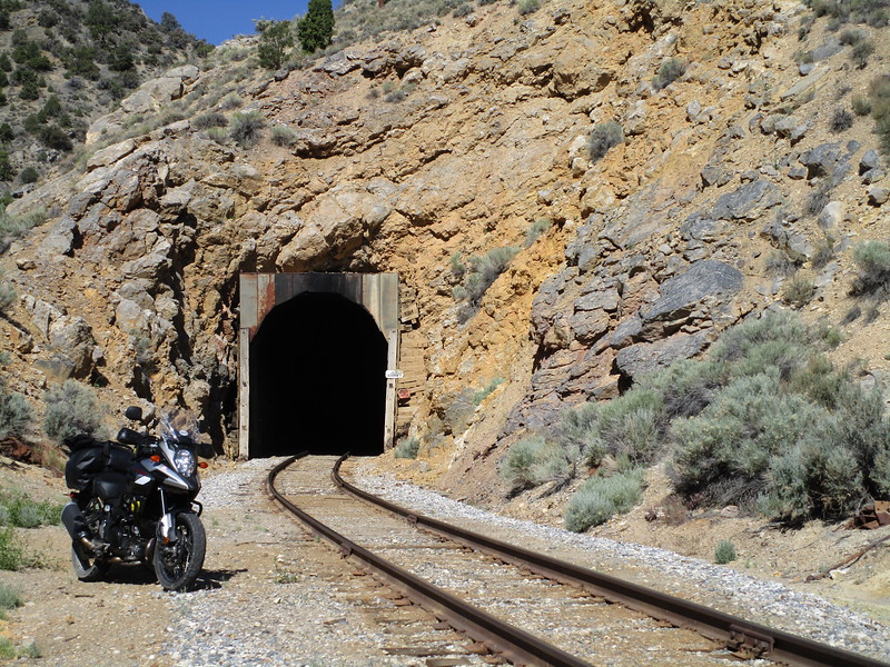 Day 2 - This is an active railroad tunnel near Ely, Nevada, on US 50.  The black marks up the middle of the ceiling are from a (coal burning) steam locomotive that still plys these tracks.  We saw this locomotive working this stretch of track on a trip a few years ago; regrettably it was not out this time.