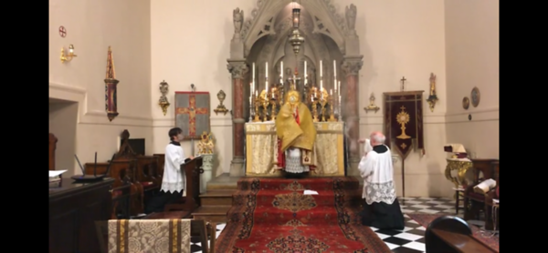 Benediction with the monstrance
