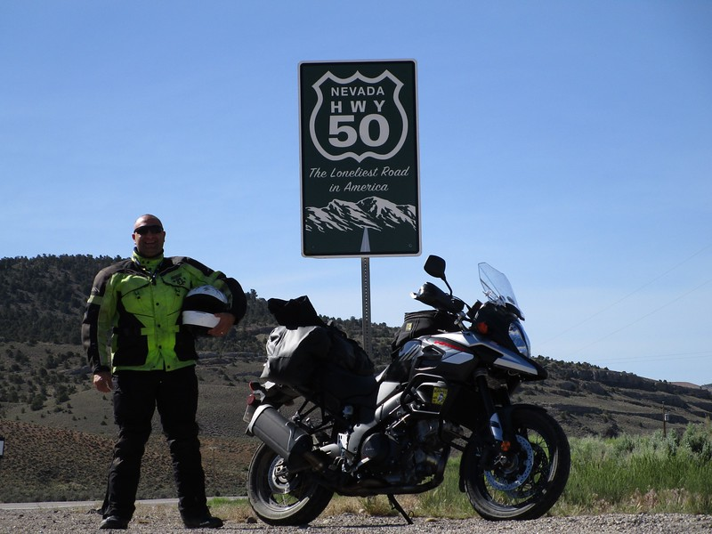 "Day 2 -  This is along US 50 near Ely NV, claimed as the ""loneliest road in America"". I traveled this route all through Nevada and a good chunk of Utah."