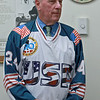 Retired Fitchburg District court Judge Edward Reynolds played on the over 80 USA hockey team that played Canada in the Coupe Canada 150 Cup on Ottawa on October 28, 2017. The US bet Canada by a score of 3 to 2. Reynolds talks about the game, while wearing his team jersey, when he visited Fitchburg City Hall on Thursday. SENTINEL & ENTERPRISE/JOHN LOVE