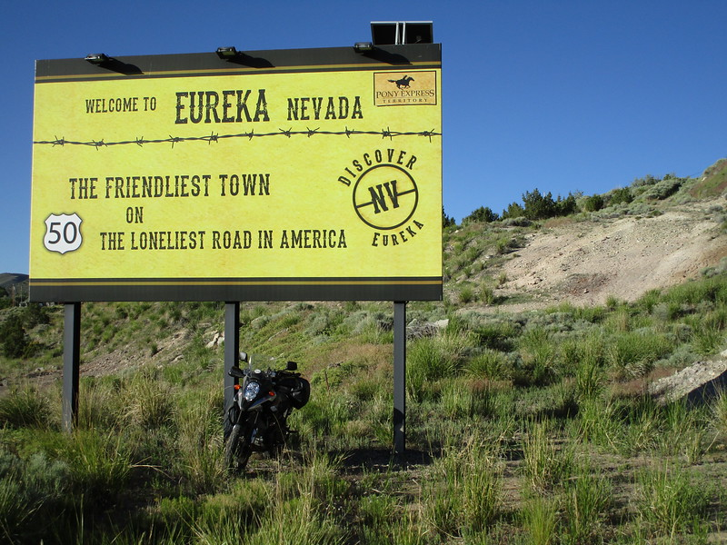 Day 2 - There are several other 'Eurekas' in the US.  I've been to most.  This one is on US 50 in central Nevada.