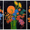 Joy in a Vase Triptic 1 33x42 $1500
