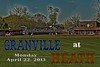 Monday, April 22, 2013 - Granville Blue Aces at Heath Bulldogs