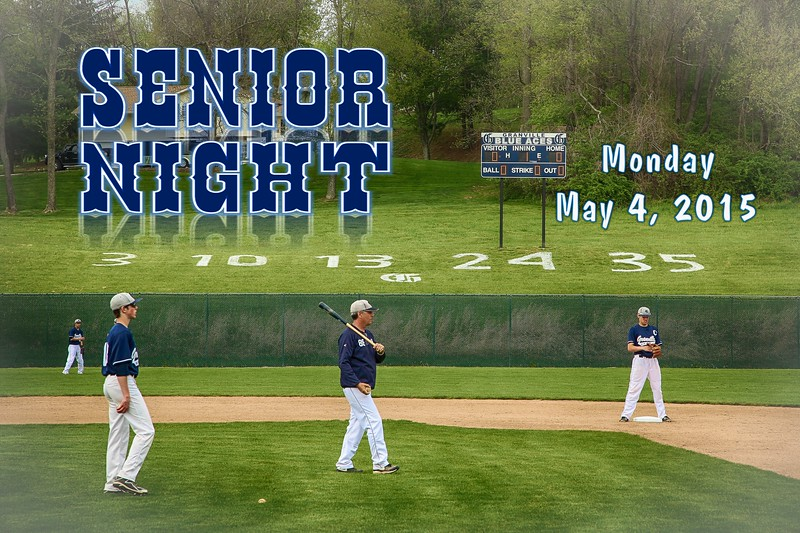 Senior Night - Heath High School Bulldogs at Granville High School Blue Aces - Monday, May 4, 2015