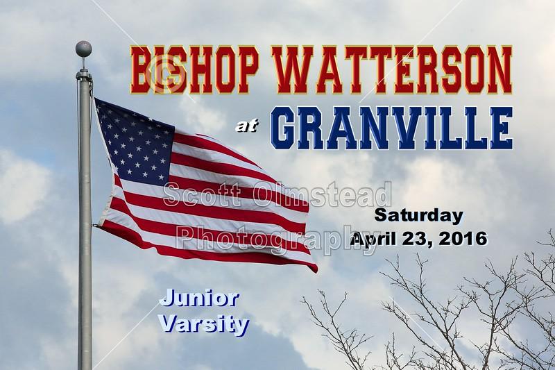 Columbus Bishop Watterson High School Eagles at Granville High School Blue Aces - Junior Varsity - Saturday, April 23, 2016