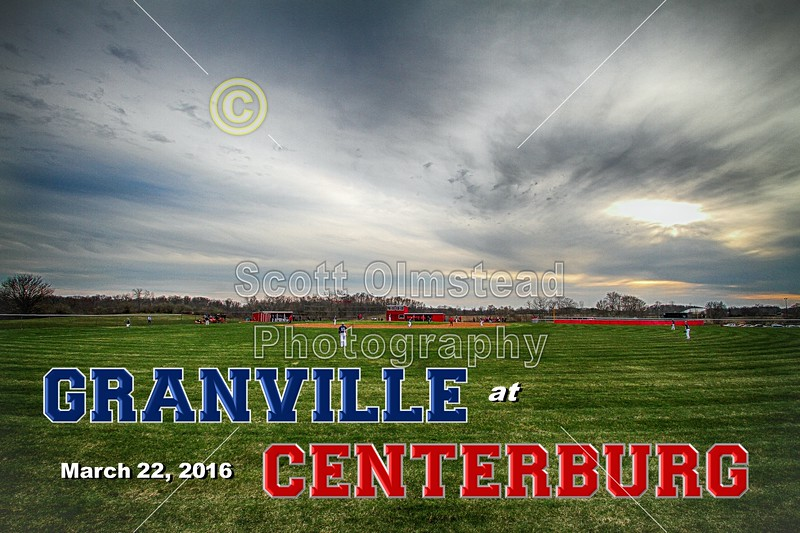 Granville High School Blue Aces at Centerburg High School Trojans - Tuesday, March 22, 2016
