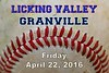 Licking Valley High School Panthers at Granville High School Blue Aces - Friday, April 22, 2016
